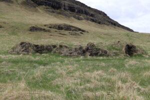 Ekra stóð efst í Borgarhafnarlandi, upp undir Borgarhafnarfelli, vestan Suðurhúsa.