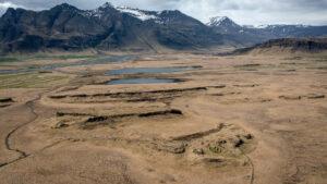 Helluhraun í Borgarhafnarlandi. Þar var búið seint á 19. öld. Síðar voru þar sauðahús.